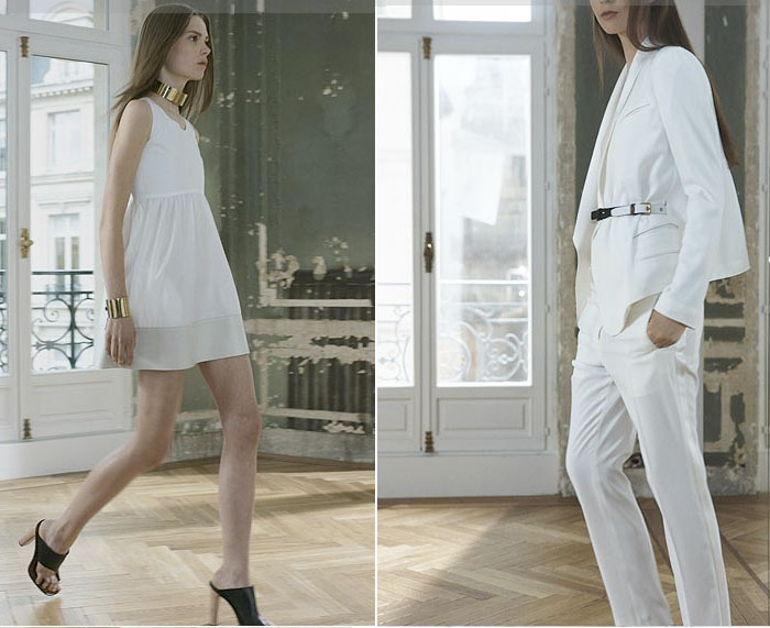 celine roupa branca all white